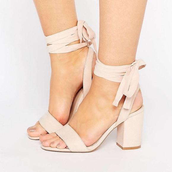05fd9ad4c8 ASOS Shoes | Howling Wide Fit Tie Leg Heels | Poshmark